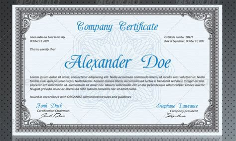 business certificates templates professional certificate template 29 free word format