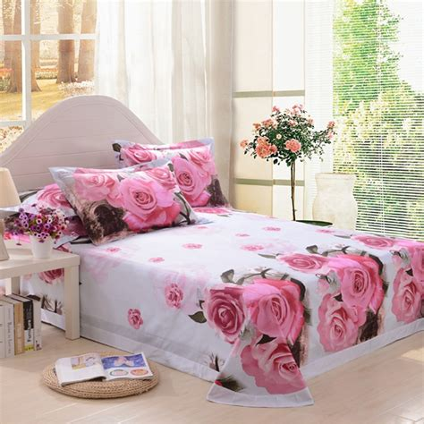 3d Pink Rose Bedding Set Ebeddingsets Flower Bed Set