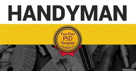 Handyman Free Psd Flyer Template Free Download 12380 Styleflyers Free Handyman Templates