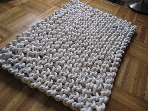 Knitting A Rug by 17 Best Ideas About Knit Rug On Knitted Rug