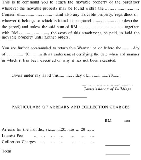 Sle Of Tenancy Agreement Letter In Malaysia Building And Common Property Management Maintenance Act 2007