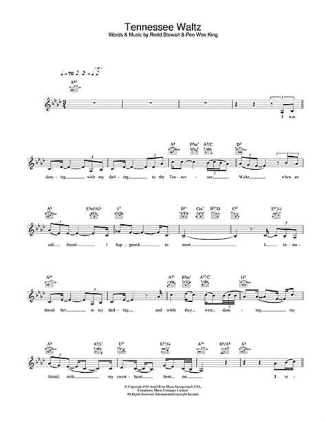 waltz lyrics tennessee waltz chords by cassidy melody line lyrics