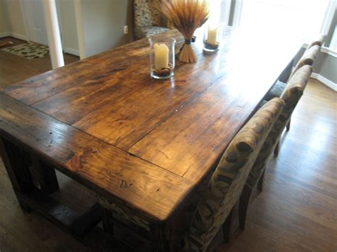 Butcher Block For Kitchen Island by Diy Friday Rustic Farmhouse Dining Table