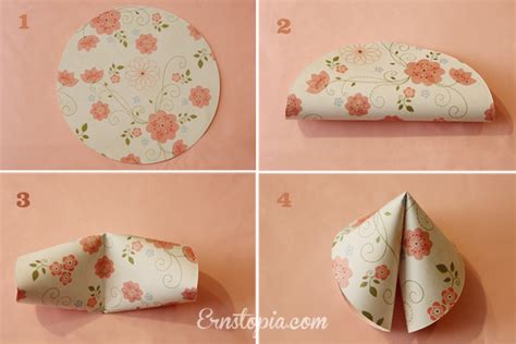 How To Make A Paper Fortune Cookie - paper fortune cookies steps