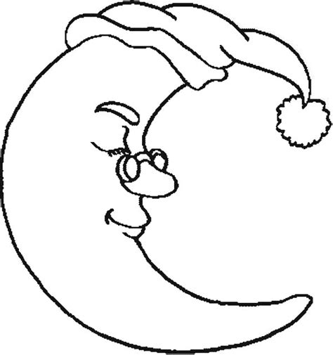 coloring page half moon half moon wearing glassess coloring page coloring sky