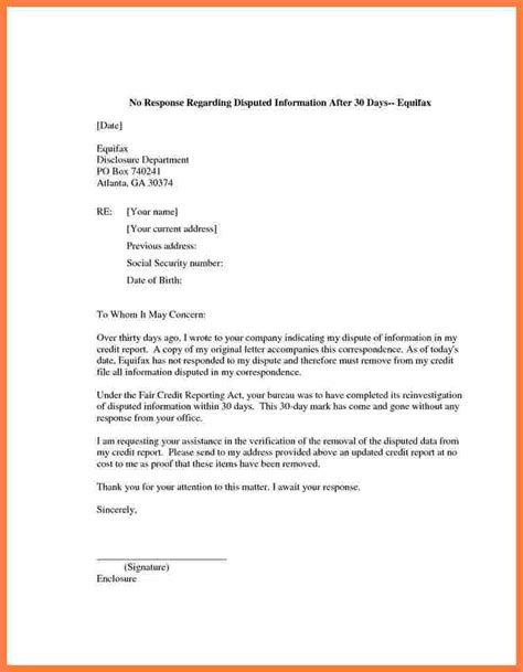 credit repair letter templates 5 credit report dispute letter template progress report