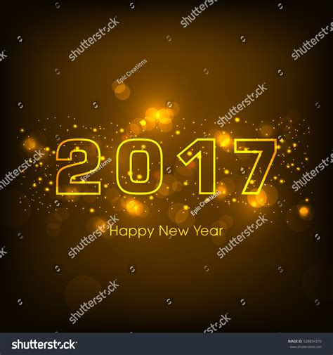 happy new year text vector happy new year 2017 text design vector 528834370