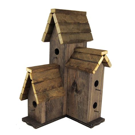 the bird house weathered wood multi level bird house