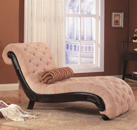accent seating chaise with button tufting and carved wood