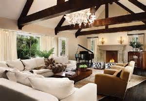 White Cowhide Rugs Opulent Beverly Hills Estate By Interior Designer Karan