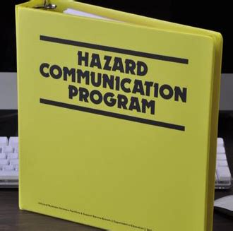 hazard communication program template osha pocket guide worker safety series warehousing part