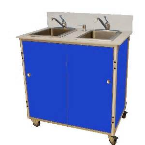 2 bowl washing self contained sink