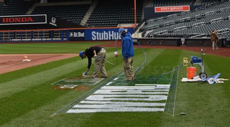prepare sports fields for the mets prepare citi field for world series pictures newsday