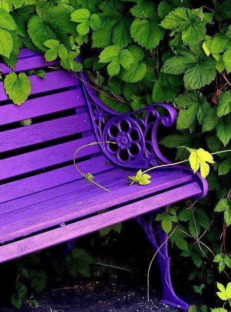 purple bench purple bench garden decor pinterest