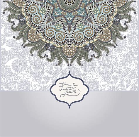13906275 vector of islamic flower pattern on white stock islamic vintage floral pattern template frame for