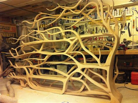carved shelf in organic crawling form