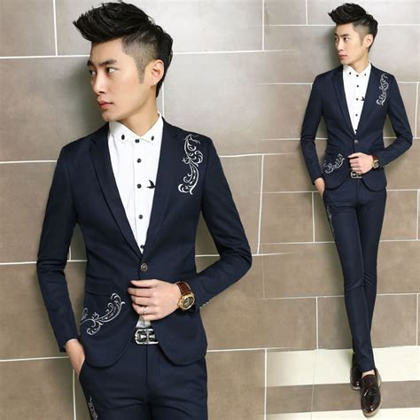 Style Black Jas Blazer Semi Formal Pria Cowok Slimfit Korea Keren 1 popular korean tuxedo buy cheap korean tuxedo lots from china korean tuxedo suppliers on