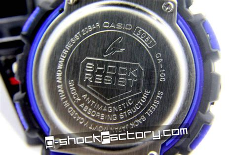 G Shock Ga 100 Black Blue Rubber g shock ga 100 black blue wrist by www g shockfactory