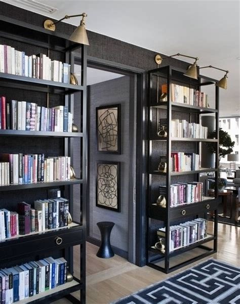 black library bookcase library lights new uses interior walls designs