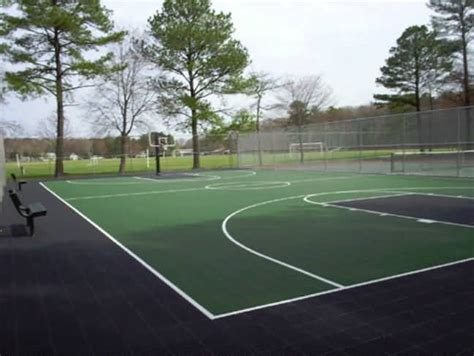 Basketball Court In Backyard by Outdoor Basketball Court Tile For Backyard Courts