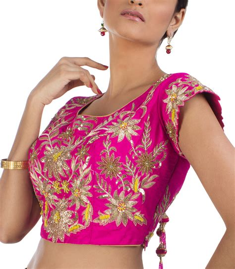 Pita Blouse pink pita work embroidered designer blouse bl3028