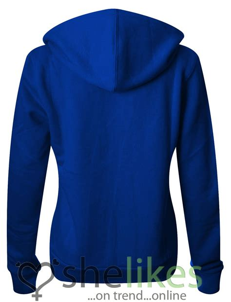 Jaket Zipper Hoodie Sweater U Hitam 4 new womens zip hooded sweatshirt plus size zipper plain hoodie jacket ebay