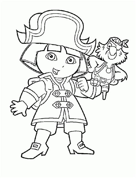 Dora The Explorer Coloring Pages To Print Coloring Home The Explorer Coloring Pages Free
