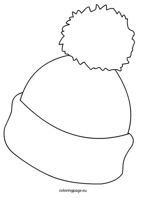 printable hat coloring page printable winter hat coloring page kids coloring page