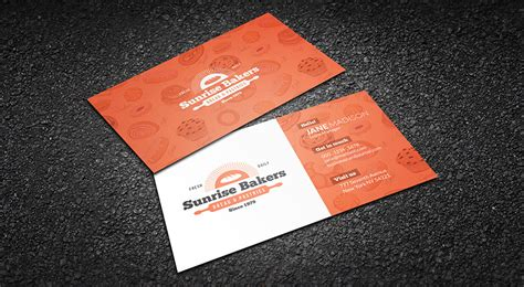 Free Orange Travel Business Card Templates by Free Joyful Orange Bakery Business Card Template