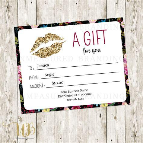 Lipsense Gift Certificate Template Digital Lipsense Printables Lipsense Business Senegence Lipsense Gift Certificate Template Free