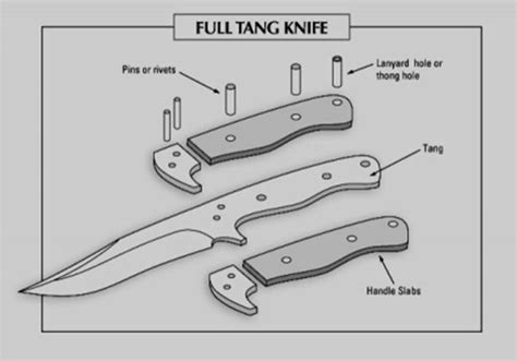handlebars template the different parts of a knife anatomy of a survival knife