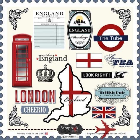 Kofferaufkleber Schottland by Scrapbook Customs 12 X 12 Cardstock Stickers England