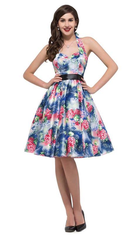 trippy floral halter dress vintage clothing
