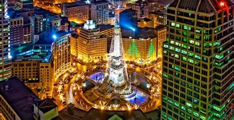 circle of lights indianapolis indiana pinterest
