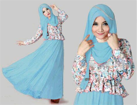 Baju Muslim Warna Biru setelan baju dress muslim cantik quot maxi kenyo quot model terbaru murah