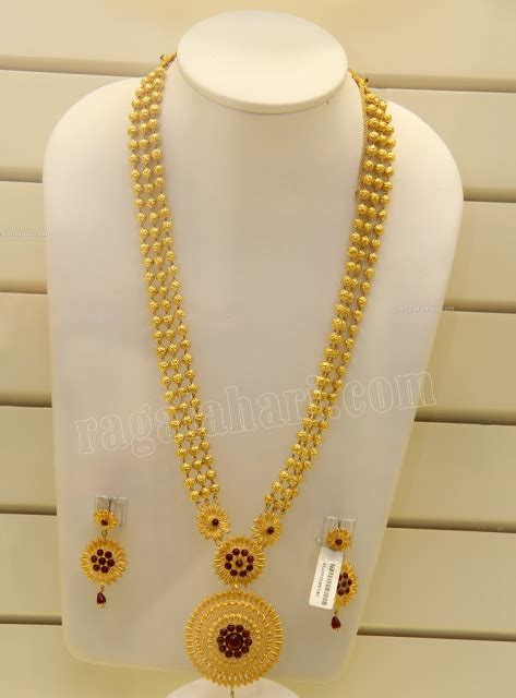 beaded gold long chain indian jewellery designs