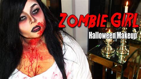 zombie girl makeup tutorial zombie girl halloween makeup tutorial youtube