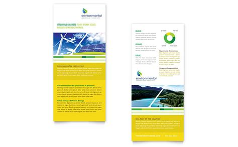 rack card template for pages environmental conservation rack card template design