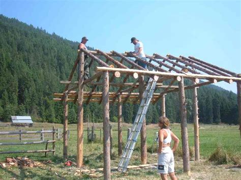 Shed Roof Pole Barn by How To Build A Pole Barn Shed Roof Wooden Furniture Plans