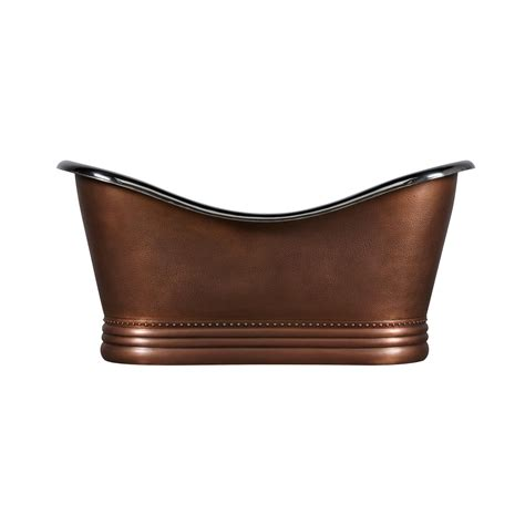 double slipper bathtub double slipper nickel interior copper bathtub coppersmith 174 creations