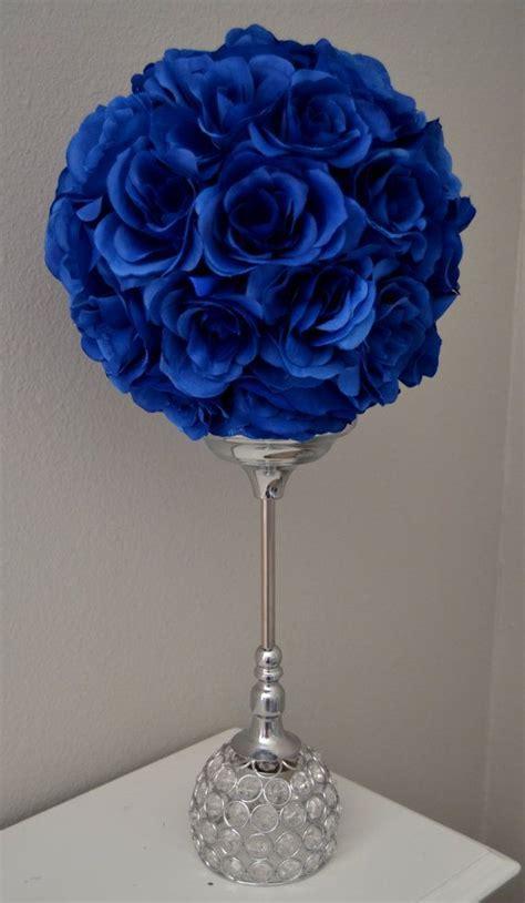 ROYAL BLUE flower ball, Wedding CENTERPIECE, Wedding Decor