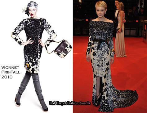 Catwalk To Carpet Bafta Awards by Runway To 2010 Baftas Carey Mulligan In Vionnet