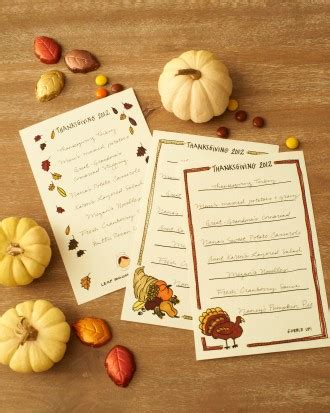 martha stewart thanksgiving place cards templates thanksgiving decor how to martha stewart
