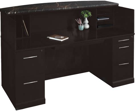 reception desk with transaction counter reception desk w granite counter free shipping