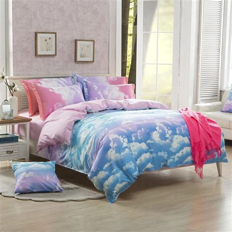 Bed Linen Set 2016 New Bedding Set Blue Sky Bed Linen Bedspread Bedding Sets Aloe Cotton Duvet Cover