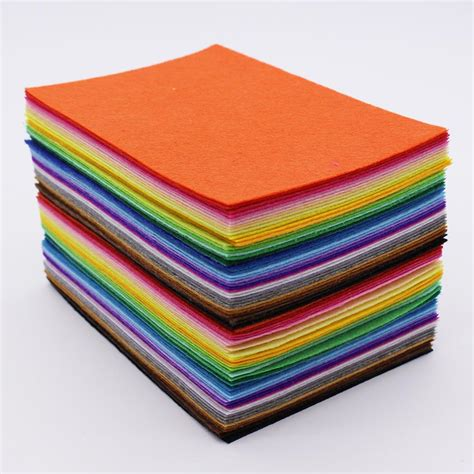 cloth crafts for 80pcs lot 1mm felt fabric polyester fabric needlework diy