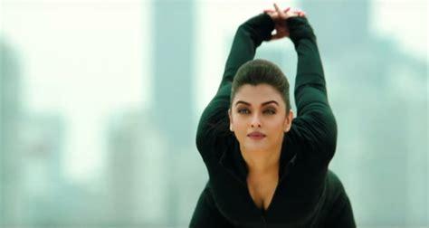 aishwarya rai gym aishwarya rai shows her fitness moves in new song
