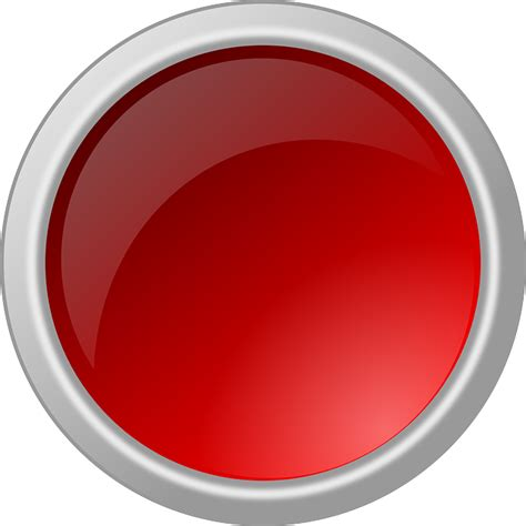 Push Button On Bulat free vector graphic button glossy circle
