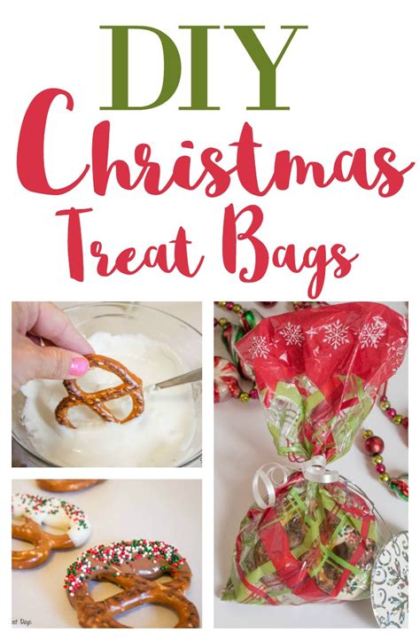 diy christmas gift chocolate dipped pretzel bags simply