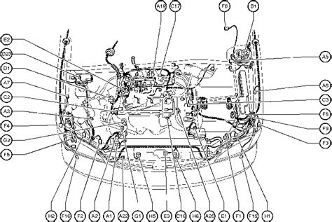 motor repair manual 2010 toyota avalon security system position of parts in engine compartment toyota sienna 1997 2003 repair